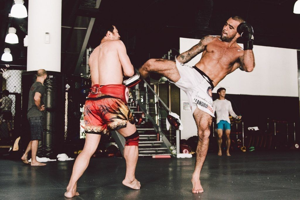 UFC Superstar Leandro 'Brodinho' Issa trains at Evolve MMA.